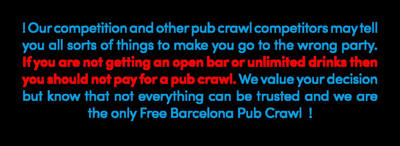 free barcelona pub crawl